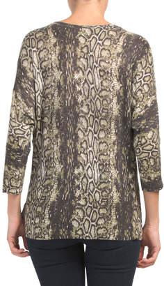 Python Print Fine Gauge Dolman Sweater