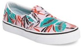 Vans Girl's Classic Tropical Leaves Slip-On Sneaker