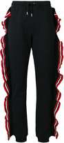 MSGM ruffle trim tracksuit bottoms