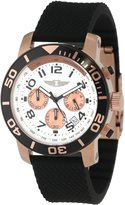 I by Invicta Men's 41701-002 Chronograph 18k Rose Gold-Plated Rubber Watch