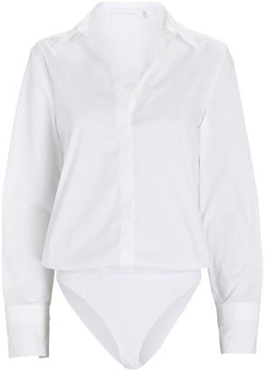JONATHAN SIMKHAI STANDARD Poplin Button-Down Bodysuit