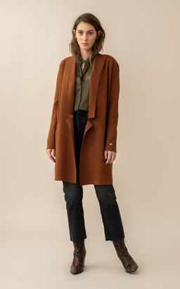 Soia & Kyo BENELA straight-fit mid-length sustainable coatigan