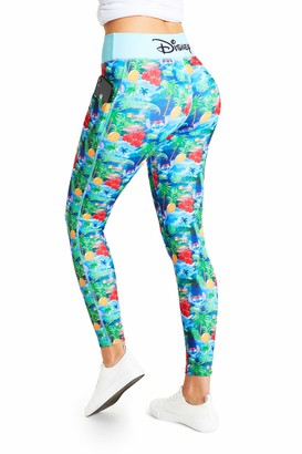 Disney Stitch Activewear Leggings for Ladies (S) Blue