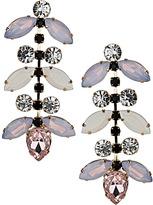 Topshop Premium Rhinestone Flower Drop Earrings