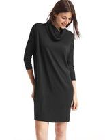 Gap Softspun cowl neck shift dress