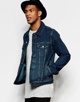 Asos Slim Fit Mid Wash Denim Jacket