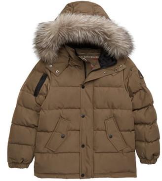 Moose Knuckles Down Jacket with Genuine Fox Fur Trim