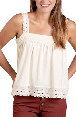 Toad&Co Primo Eyelet Trim Organic Cotton Camisole