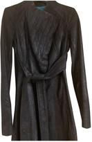 Zac Posen Black Leather Coat for Women