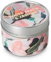 Oliver Bonas White Peach & Jasmine Travel Tin Candle