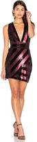 Milly Pailette X Back Mini Dress