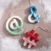west elm Ombre Felt Ornaments - Symbols