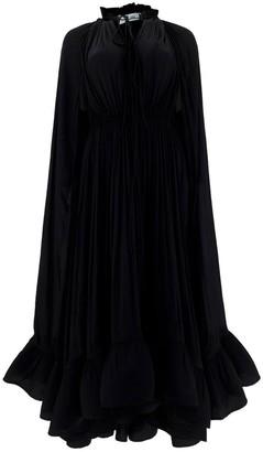 Lanvin Long-Sleeved Ruffle Dress