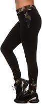 Black Camouflage-Accent Leggings - Plus Too