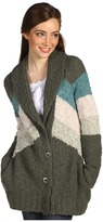 Free People Rocket High Cardi (Charcoal Olive Combo) - Apparel