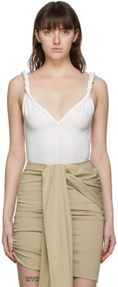 Vejas White Twisting Tank Top