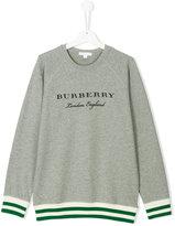 Burberry logo sweatshirt with ribbed trim
