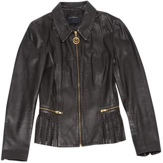 Just Cavalli Black Leather Jackets