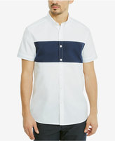 Kenneth Cole Reaction Men's Oxford Colorblocked Shirt