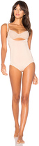 Spanx Oncore Open-Bust Bodysuit in Blush