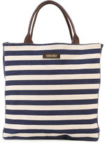 Woolrich striped denim shopping bag - women - Cotton/Leather - One Size