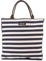 Woolrich striped denim shopping bag