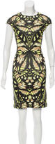 McQ by Alexander McQueen Abstract Print Bodycon Dress