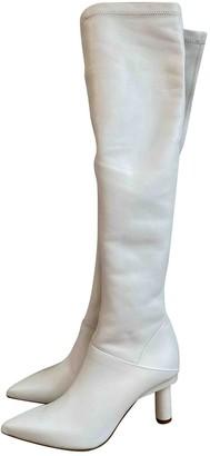 Tibi White Leather Boots