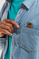 Urban Outfitters Embroidered Overdyed Corduroy Button-Down Shirt