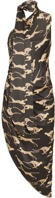 Ronny Kobo Zoey Cheetah Asymmetrical Dress