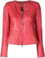 S.W.O.R.D 6.6.44 collarless leather jacket