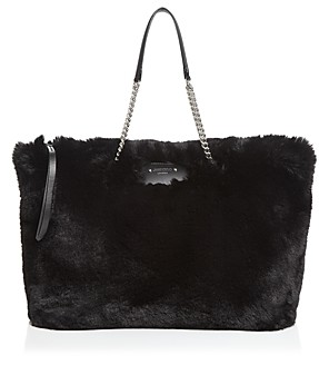 Jimmy Choo Allegra Faux Fur Tote