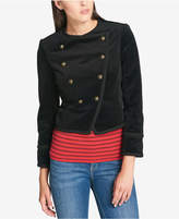 Tommy Hilfiger Velvet Double-Breasted Jacket, Created for Macy's