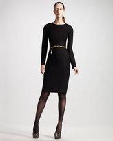 THE ROW Long-Sleeve Flannel Dress