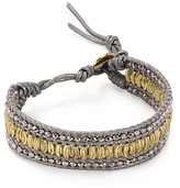 Chan Luu Gray Leather Bracelet