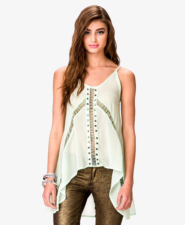 Forever 21 Studded Georgette Tank Top