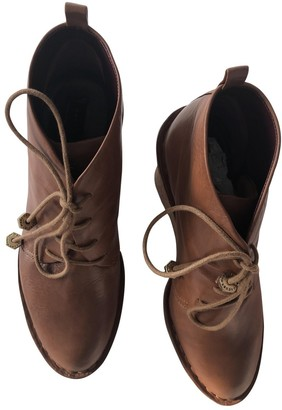 Marc by Marc Jacobs Camel Leather Lace ups