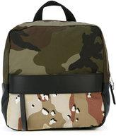 MM6 MAISON MARGIELA camouflage panel backpack - women - Cotton/Polyester/Polyurethane - One Size