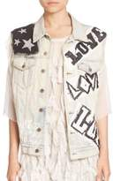 Faith Connexion Graphic Denim Vest