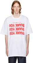 Raf Simons White 'Thank You' Big Fit T-Shirt