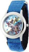 Marvel Avengers Kids Time Teacher Blue Nylon Fast Strap Watch