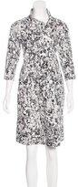 Jil Sander Abstract Print A-Line Dress