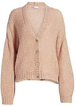 Brunello Cucinelli Women's Mohair-Blend Oversized Cardigan