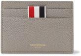 Thom Browne Pebble-grain Leather Cardholder - Gray