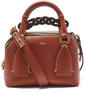 Chloé Daria Small Leather Top-handle Bag - Brown