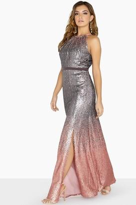 Little Mistress Tina Ombre Sequin Maxi Dress