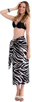 1 World Sarongs Womens Animal Print Swimsuit Cover-Up Sarong in Zebra 2