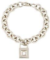 Tiffany & Co. 'D' Lock Charm Bracelet