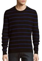 Michael Kors Waffle Striped Long Sleeve Pullover