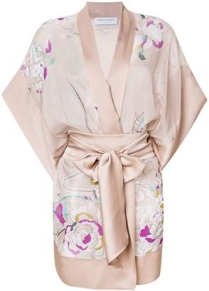 Carine Gilson Floral Short Kimono